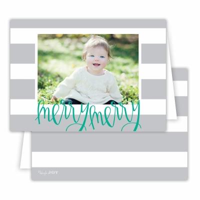 Merry Merry Cabana Light Grey Folded Photocard