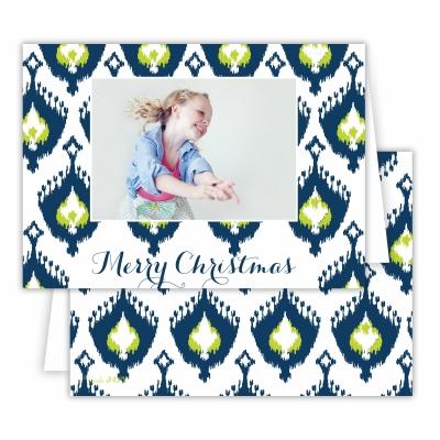 Merry Christmas Elsie Navy Folded Photocard