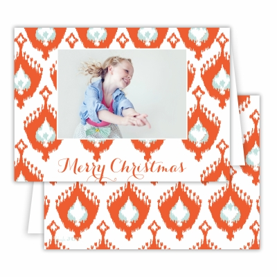 Merry Christmas Elsie Warm Red Folded Photocard