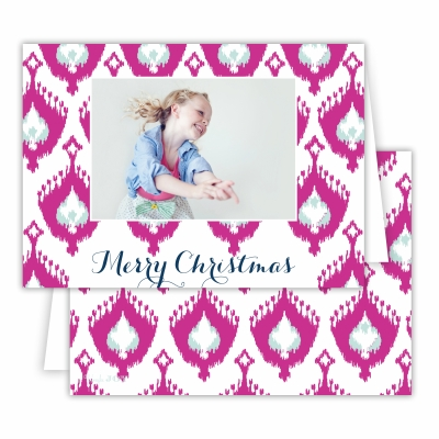 Merry Christmas Elsie Fuchsia Folded Photocard