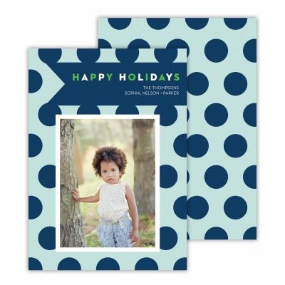 Polka Dot Jane Sea & Navy Photocard