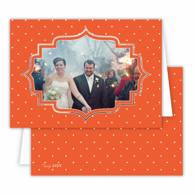 Pin Dot Warm Red Folded Photocard