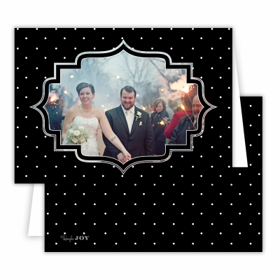 Pin Dot Black Folded Photocard