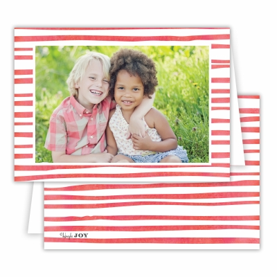 Candy Cane Red Folded Photocard