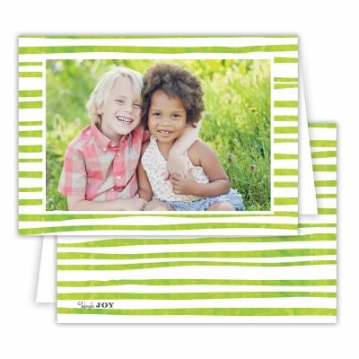 Candy Cane Grass Folded Photocard