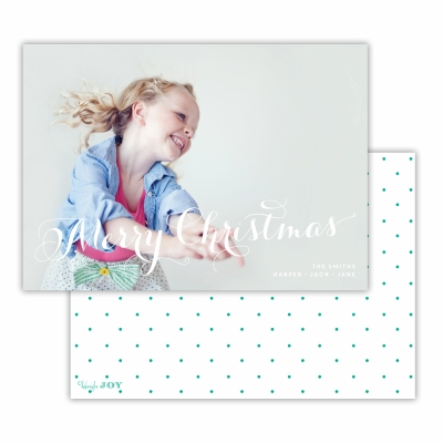 Merry Christmas with Swiss Dot Jewel Back Flat Photocard