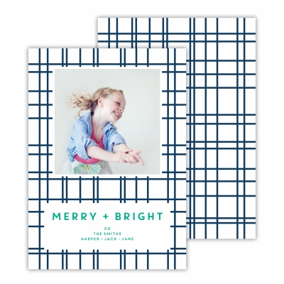 Plaid Navy Photocard