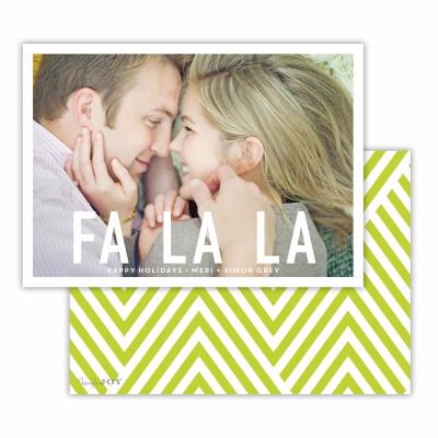 Fa La La Christmas with Chartreuse Back Flat Photocard