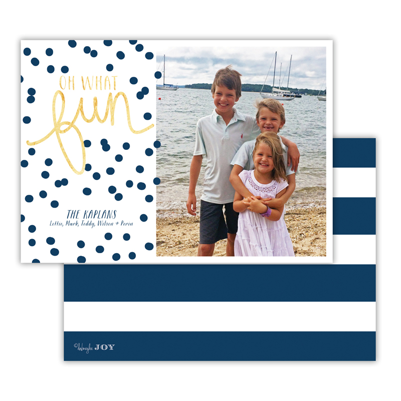 Nautical Navy with Foil Photocard