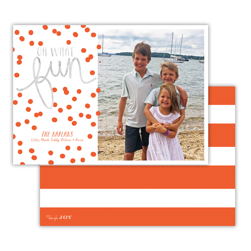 Nautical Warm Red with Foil Photocard