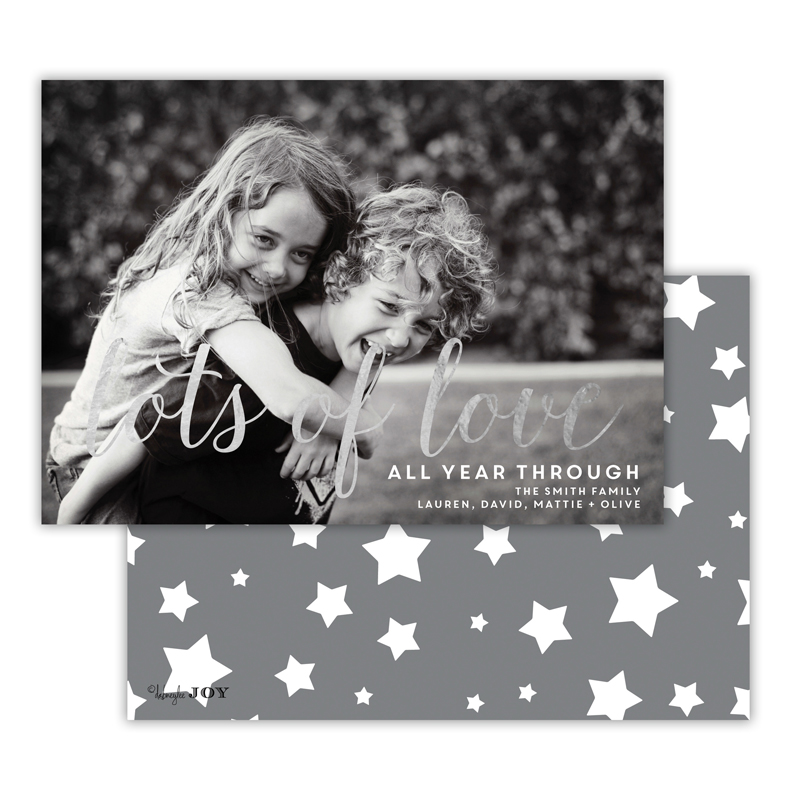 Stars Dark Grey with Foil Lots of Love Photocard