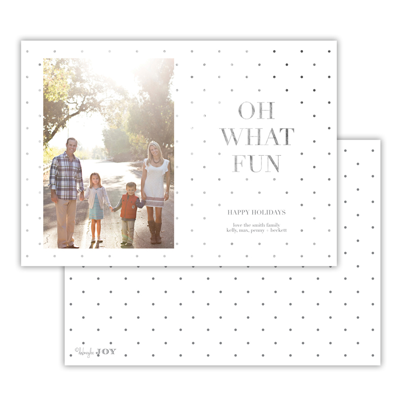 Sweet Dots Dark Grey with Foil Photocard