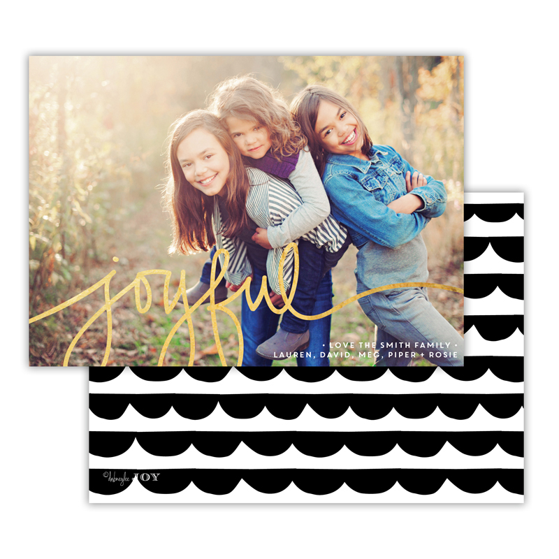 Simple Joys Black with Foil Joyful Photocard