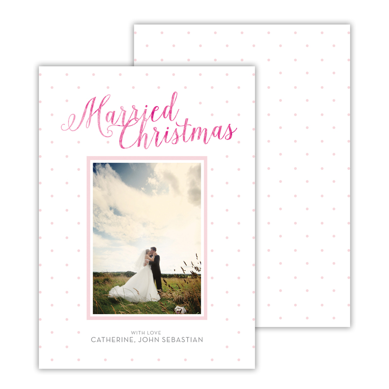 Married Ballet with Foil Merry Christmas Photocard