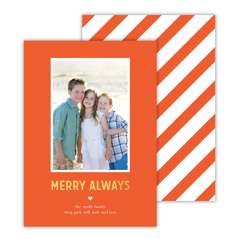 Merry Always Hot Pink with Foil Merry Always Photocard