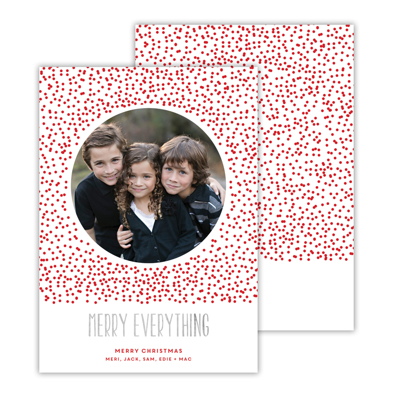 Dots Red with Foil Merry Everything Photocard