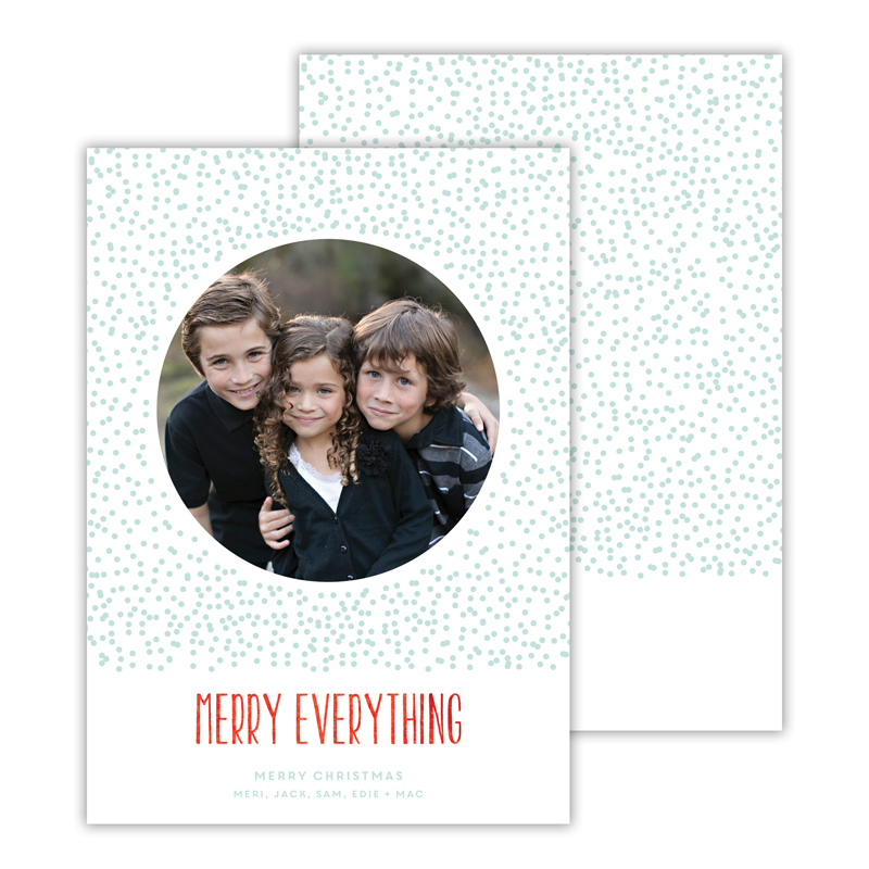 Dots Sea with Foil Merry Everything Photocard