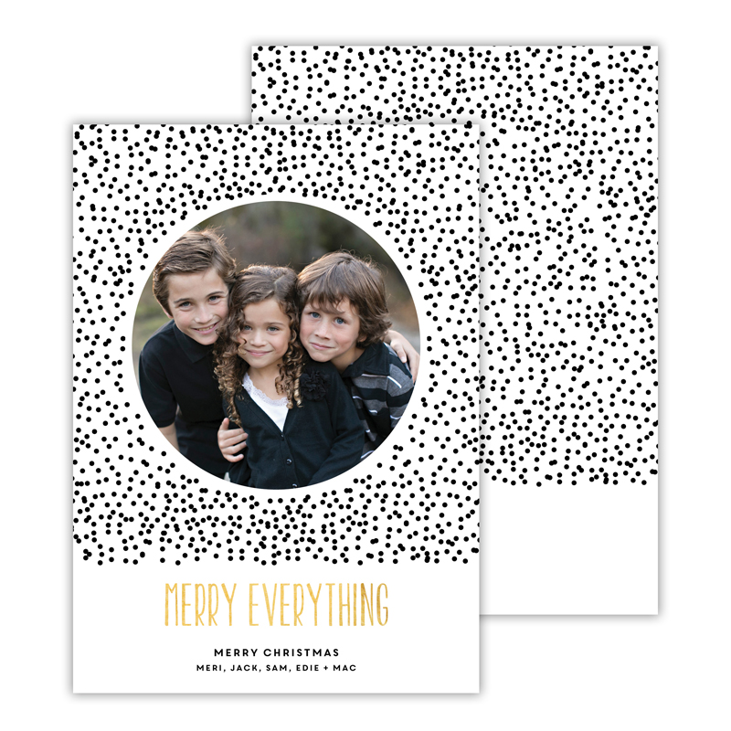 Dots Black with Foil Merry Everything Photocard