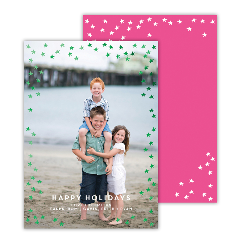 Starlight Hot Pink with Foil Green