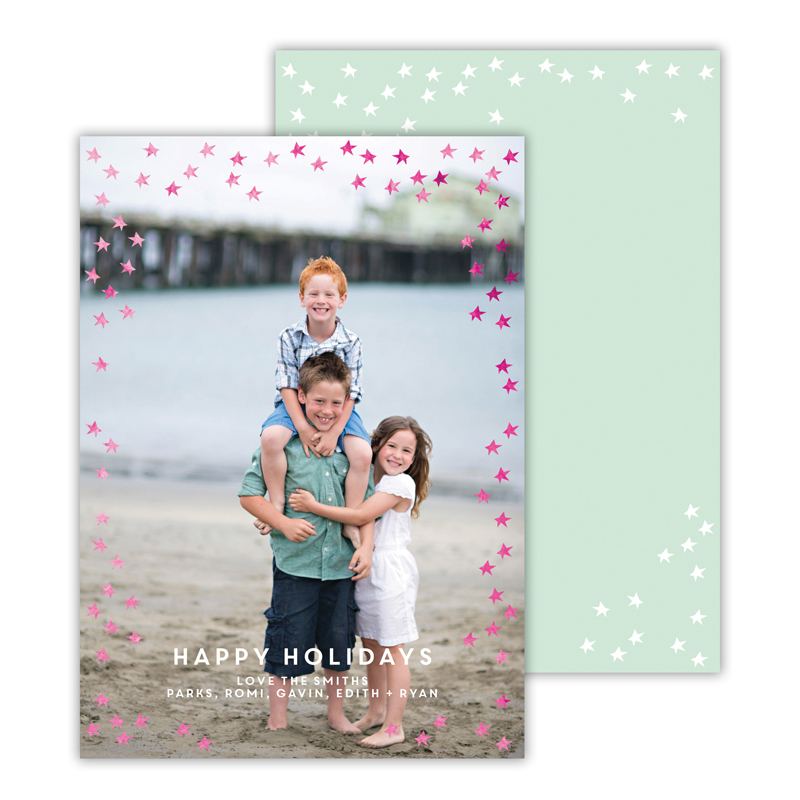 Starlight Mint with Foil Happy Holidays Photocard