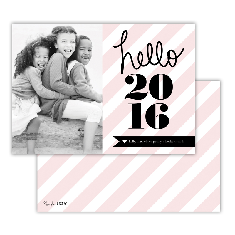 Bold Stripes Ballet New Years Photocard