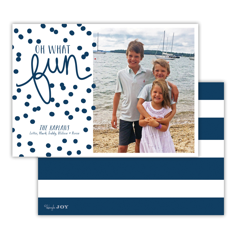 Nautical Navy Photocard