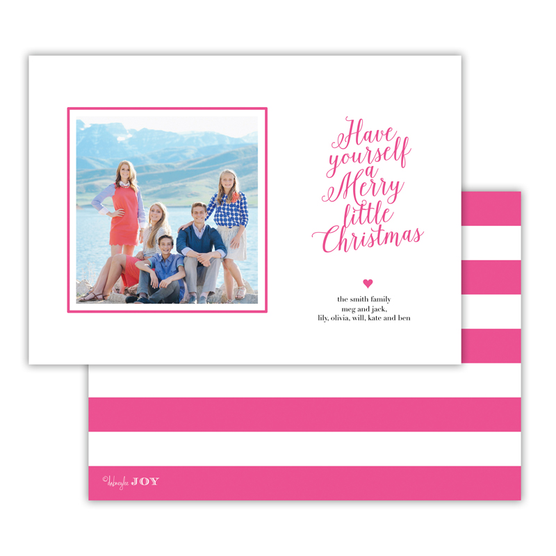 Simple Charms Hot Pink Christmas Photocard