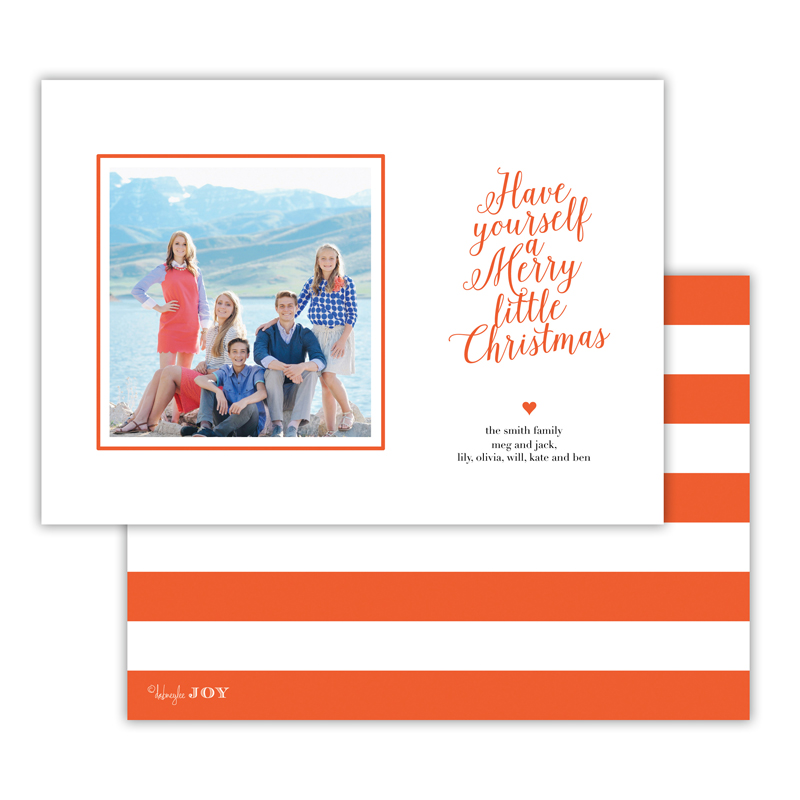 Simple Charms Warm Red Christmas Photocard