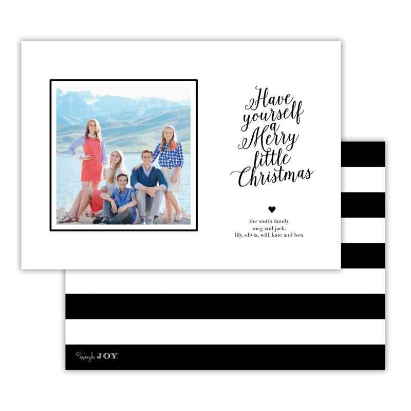 Simple Charms Black Christmas Photocard
