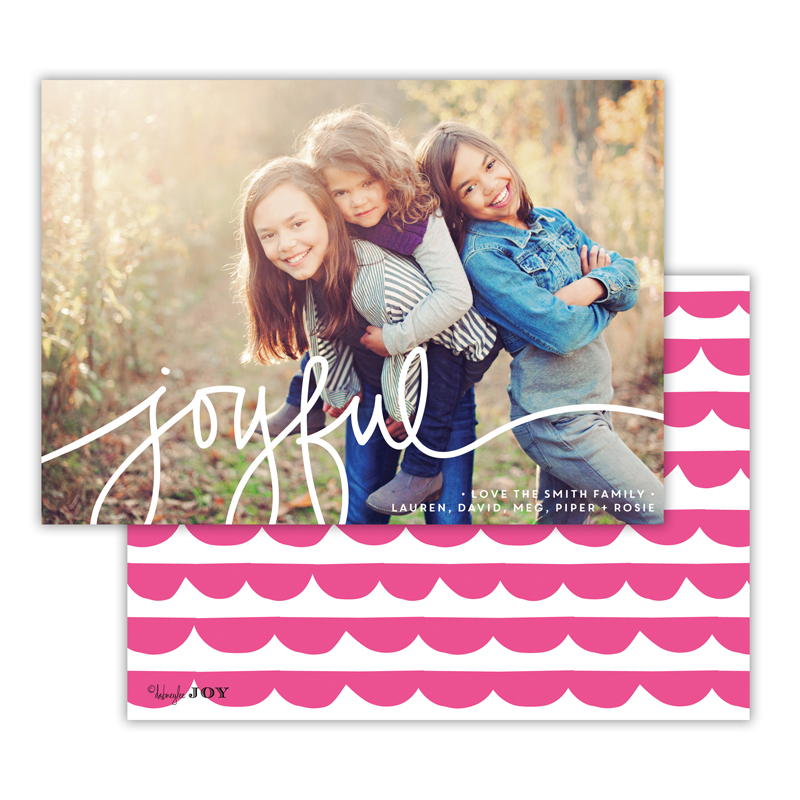 Simple Joys Hot Pink Joyful Photocard