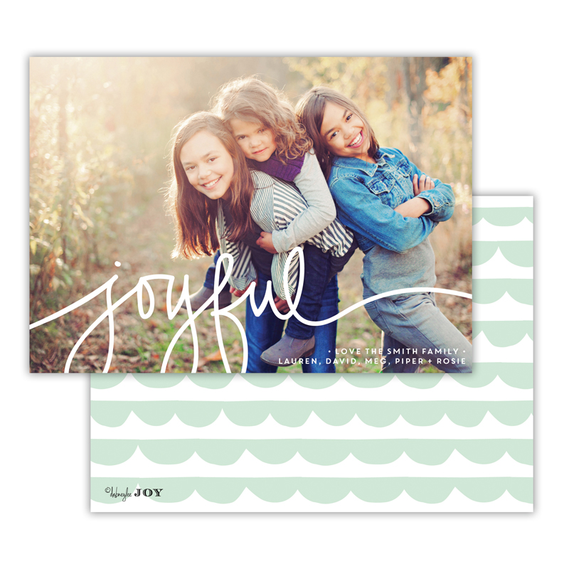 Simple Joys Mint Joyful Photocard