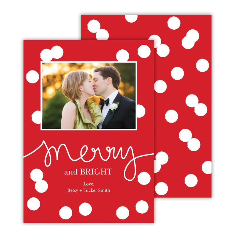 Confetti Red Merry and Bright Photocard