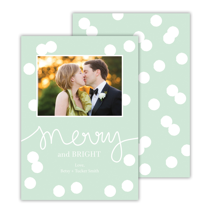 Confetti Mint Merry and Bright Photocard