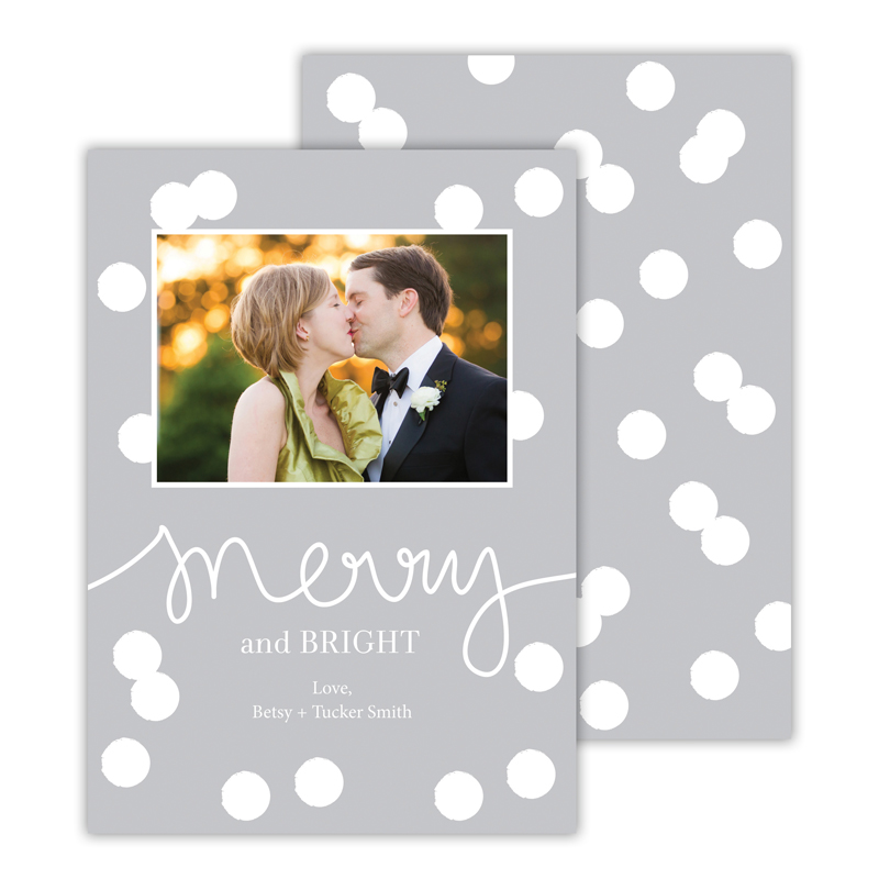 Confetti Light Grey Merry and Bright Photocard
