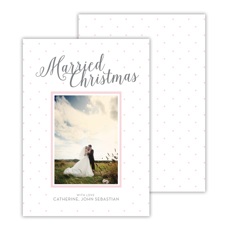 Married Ballet Merry Christmas Photocard