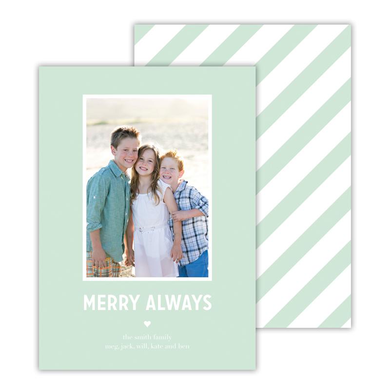 Merry Always Mint Christmas Photocard