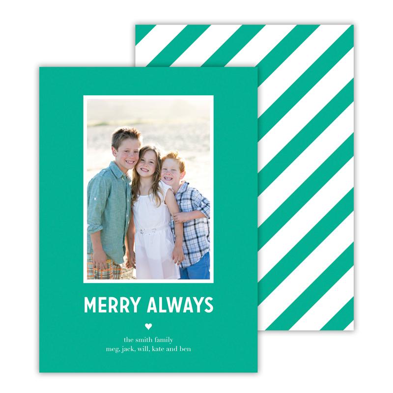 Merry Always Jewel Christmas Photocard