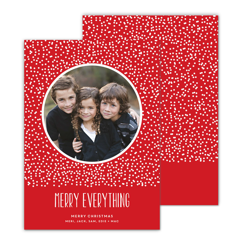 Dots Red Merry Everything Photocard