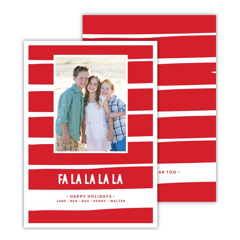 Fa La La La La Red Christmas Photocard