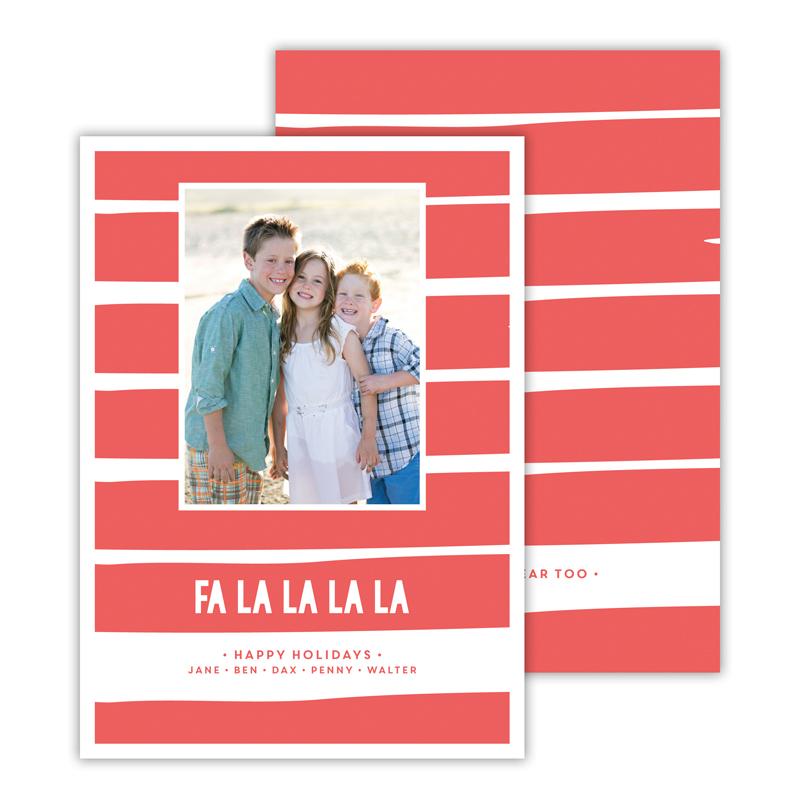Fa La La La La Coral Christmas Photocard