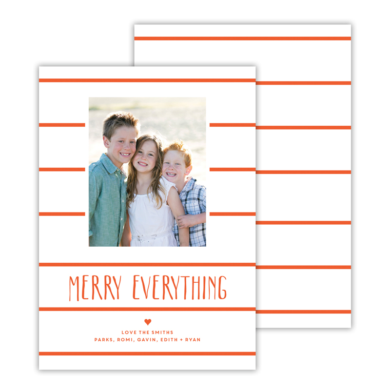 Simple Lines Warm Red Merry Everything Photocard