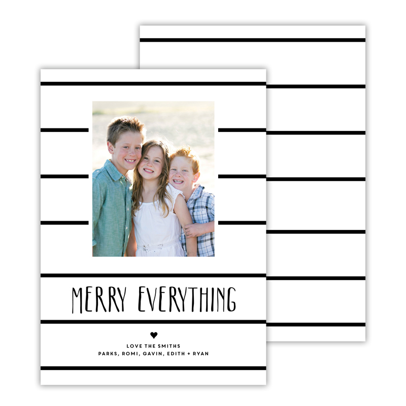 Simple Lines Black Merry Everything Photocard