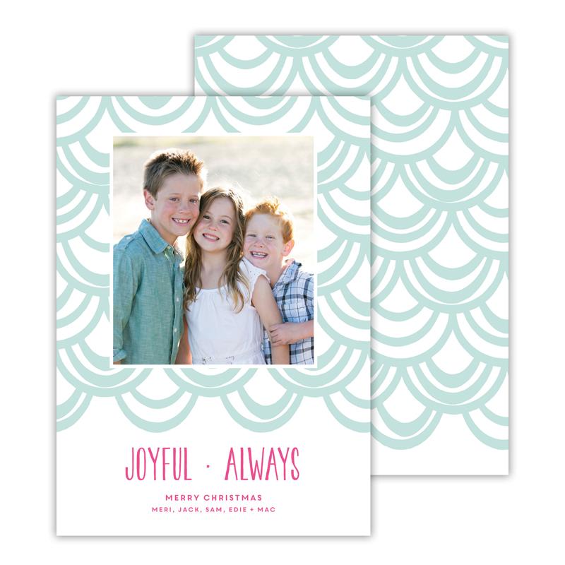 Joyful Always Sea Christmas Photocard