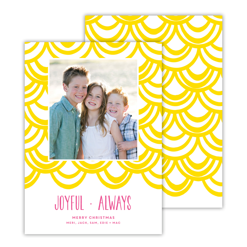 Joyful Always Sunshine Christmas Photocard