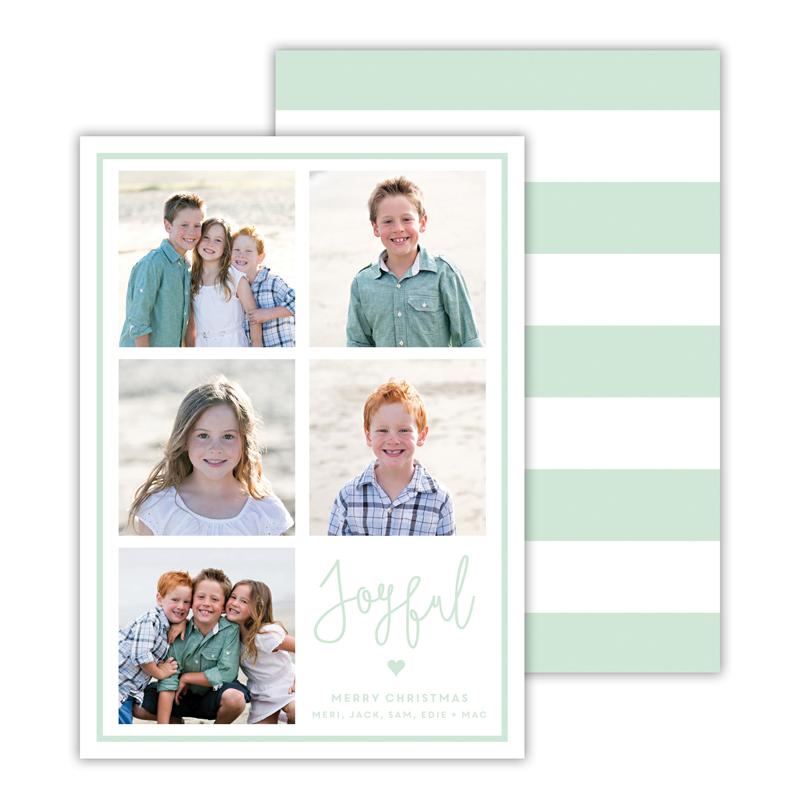 Joyful Mint Christmas Photocard