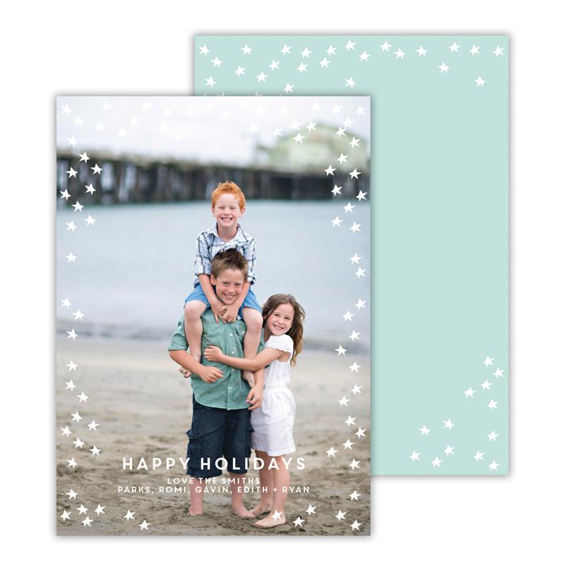 Starlight Sea Happy Holidays Photocard