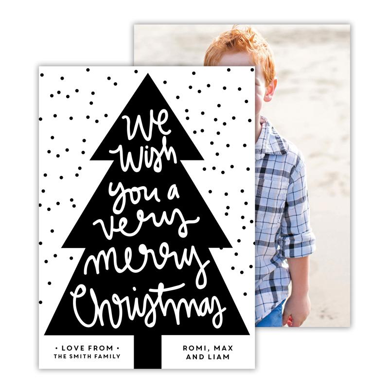 Very Merry Black Christmas Photocard
