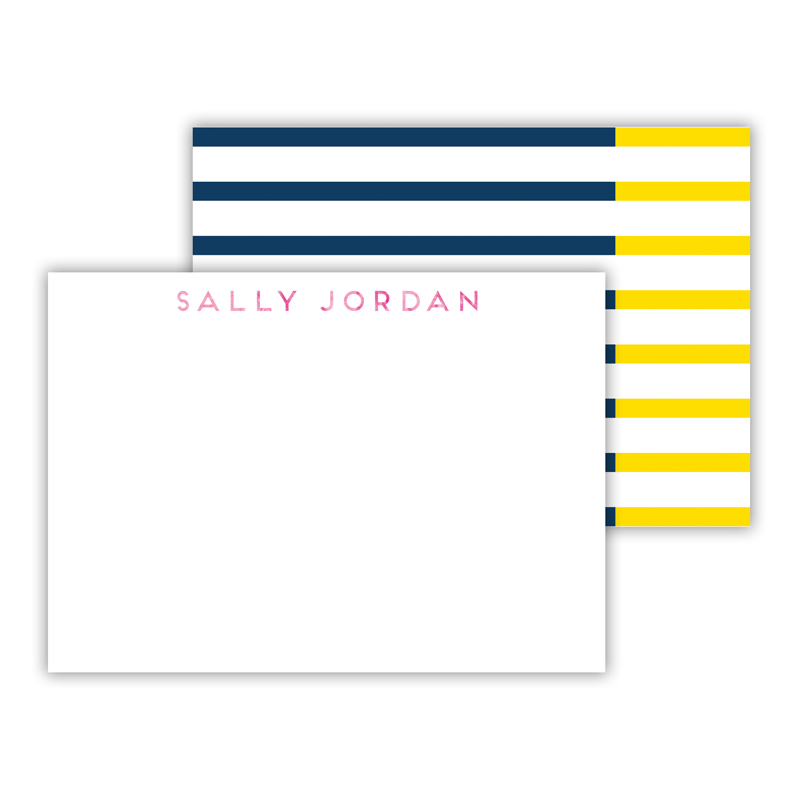 Twice As Nice Foil Personalized Mini Flat Card with Foil Accents (25 cards)