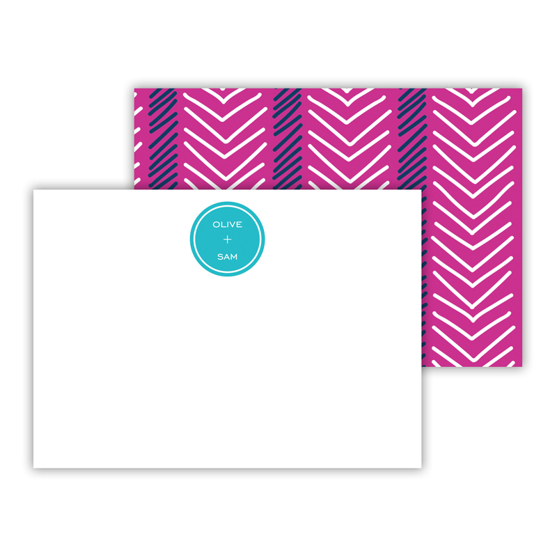 Topstitch Personalized Mini Flat Note Card (25 cards)