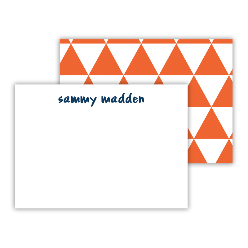 Triangles Personalized Mini Flat Note Card (25 cards)